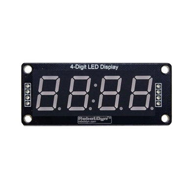 "RobotDyn TM1637 4 Digit LED Display with 0.56"" Digits"