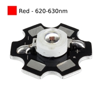 3W Red LED on Star Board Heatsink