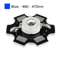 3W Blue LED on Star Board Heatsink