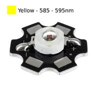 3W Yellow LED on Star Board Heatsink