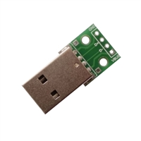 USB Type A Plug (Male) Breakout Board