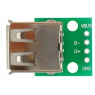 USB Type A Receptacle (Female) Breakout Board