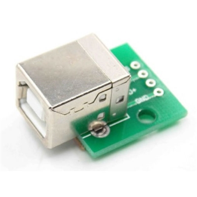 USB Type B Receptacle (Female) Breakout Board
