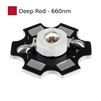 3W Deep Red LED on Star Board Heatsink
