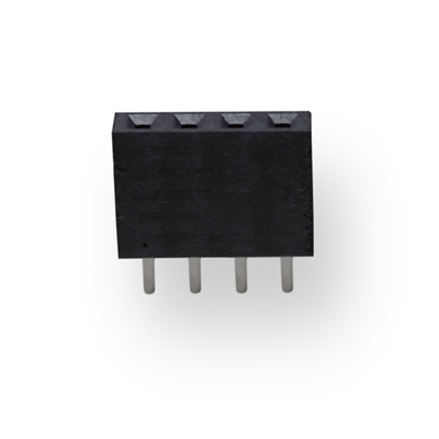 "Black Female Header 1x4 Pins 0.1"" (2.54mm) Spacing"