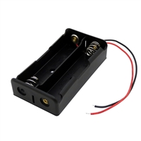 2-Place 18650 Battery Holder with Wires