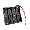 AA 4-Battery Holder with Wire Leads