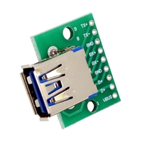 USB 3.0 Type A Receptacle (Female) Breakout Board