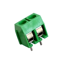 2 Position Screw Terminal Block Low Profile