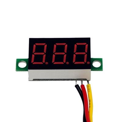 2 wires LED Display 3-Digital Gauge Voltage Voltmeter Voltameter Panel Meter