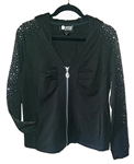 Christine Alexander Black Athletic Zip Up Hoodie