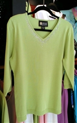 Christine Alexander Perfect V-Neck 3/4 Sweater