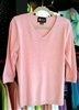Christine Alexander V-Neck Pink Starshot Sweater