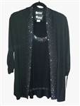 Christine Alexander Black 3/4 sleeve Cardigan