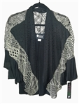 Christine Alexander Black Shell Cardigan w/Black Crystals
