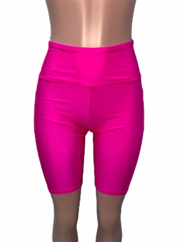 trendy_pink_high_waist_bike_short_shorts