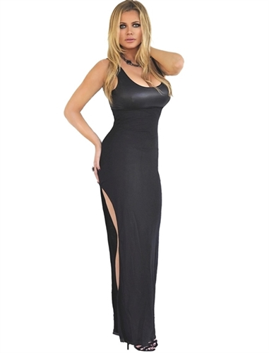 sexy classic black fitted vinyl bust maxi dress is stretchy and soft, casual black low cut hippie maxi dress is a perfect festival dress, elegant black sexy dresses that are maxi dresses, party dresses to wear day dress or clubbing dress
