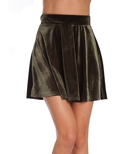 sexy jade velour high waist mini skirts, schoolgirl inspired mini skirts that are skater style circle skirts in jade velour, biker inspired mini skirt in wet look, costume party skater mini skirt to wear casual or going out, mini skirts, pleated skirt