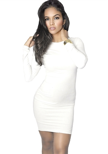 white_kylie_suede_long_sleeved_mini_dress