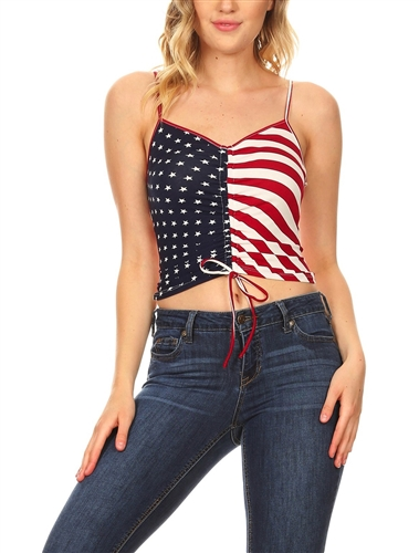 sexy_patriot_flag_crop_drawstring_cleavage_top