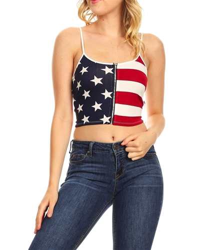 sexy_patriot_flag_crop_zipper_cleavage_top