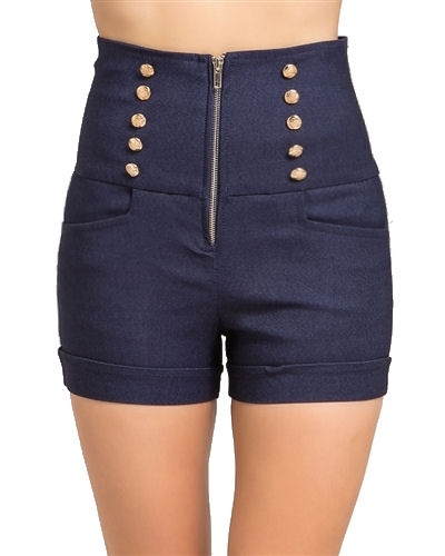 Trendy denim blue jean short shorts in high waist denim, festival party short shorts that are mid to high waist, street style festival denim shorts to wear to concerts, party summer short shorts that are hippie style 70's short shorts, awesome shorts