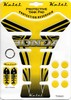 Keiti Yellow Honda Tank Pad with Wing Logos