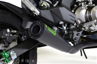 "2017-2018 Kawasaki Z125 Pro Brock's ShortMeg 2 Full Exhaust System 12"" Black Muffler (398594)"