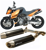 Graves Motorsports 2005-2008 KTM Super Duke Cat Eliminator Slip-on Exhaust System - Titanium Silencer (EXK-07SD-CEST)