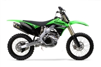 2009-2014 Kawasaki KX250F Two Brothers Racing Full Exhaust System Racing Standard Gold Series with M-7 Carbon Fiber Canister (005-2350107V)