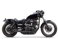2014-2018 Yamaha Bolt Two Brothers Comp-S Full Race Exhaust System 2-1 Stainless Steel with Carbon Fiber End Cap - Ceramic Black (005-3690199-B)