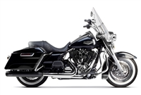 1995-2014 Harley Davidson FL Touring Two Brothers Comp-S Slip On Exhaust System Dual SS with Carbon Fiber End Cap - Ceramic Black (005-3870499D-B)