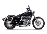 2004-2013 Harley Davidson Sportster Two Brothers Comp-S Full Race Exhaust System 2-1 Stainless Steel with Carbon Fiber End Cap (005-4110199)