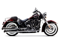 2015-2017 Harley Davidson Softail Deluxe / Slim Two Brothers Comp-S Slip-On Exhaust System Dual Chrome with Carbon Fiber End Cap (005-4140499D)