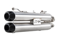 2016-2017 Polaris RZR XP4 / XP1000 Turbo Two Brothers Racing Dual Slip-On Exhaust System with S1R Stainless Steel Canisters (005-4420409D)