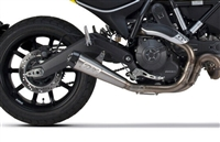 2015-2017 Ducati Scrambler Two Brothers Comp-S Slip On Exhaust System Stainless Steel with Carbon Fiber End Cap (005-4590499)