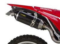 2017-2019 Honda CRF250L / Rally Two Brothers Racing Slip On Exhaust System S1 Series with S1R Carbon Fiber Canister (005-4800405-S1)