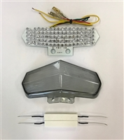 Clear Alternatives 2002-2007 Ducati 999 Smoke Rear Brake Tail Light Lens and LED Board with Integrated Signals (CTL-0061-IT-S)