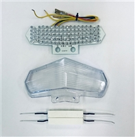 Clear Alternatives 2002-2007 Ducati Multistrada Smoke Tail Light Lens and LED Board with Integrated Signals