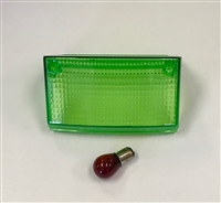 Clear Alternatives 1994-2007 Kawasaki EX250 Green Tail Light Lens - Middle Lens Only