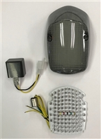 Clear Alternatives 1998-2001 Honda Shadow Deluxe 750 Smoke Tail Light Lens and LED Board with Integrated Signals