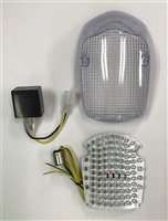Clear Alternatives 1998-2001 Honda Shadow Deluxe 750 Clear Tail Light Lens and LED Board with Integrated Signals