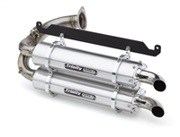 2019-2020 Honda Talon 1000R / 1000X Trinity Racing Stage 5 Dual Slip On Exhaust - Brushed Mufflers (TR-4169S)
