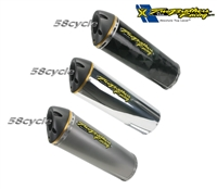 2002-2006 Honda RC51 Two Brothers Racing Slip On Exhaust System Standard Gold Series - Dual Canister