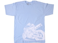Vortex Racing T-Shirt -  Emerge - Light Blue XXL/2XL/2X-Large  (SS33XXL)