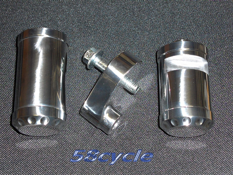 2008-2016 Yamaha R6 NO Cut Polished Frame Sliders with End Caps 2008 ...