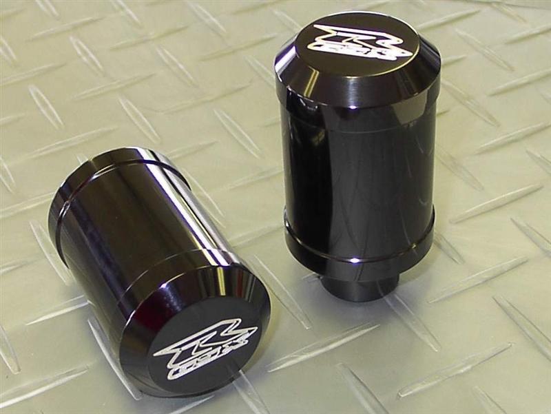 2003-2004 Suzuki GSXR1000 Black Anodized Frame Sliders with Custom ...