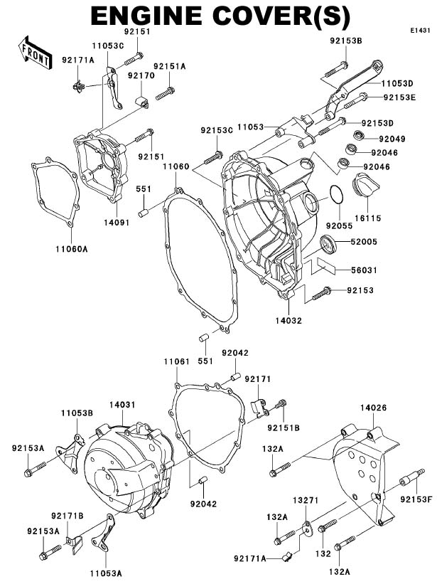 [DIAGRAM_09CH]  Streetbike > Kawasaki > Kawasaki Ninja ZX6R 636 > 05-06 ZX6R 636 > OEM  Parts > 2005 Kawasaki ZX6R 636 OEM Parts Microfiche | Engine Cover(s) | Zx6r Engine Diagram |  | 58cycle