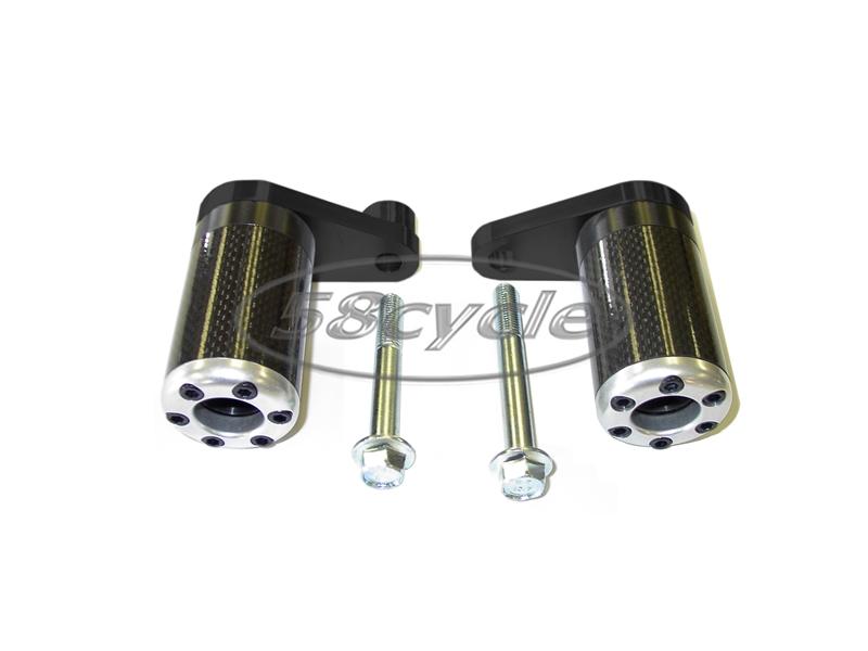 2003-2005 Yamaha R6 Carbon Fiber Inlay Frame Sliders 2003 2004 2005