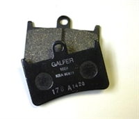 2006-2009 Suzuki LTR 450 Quad Racer Galfer Black Semi-Metallic Front Brake Pads - Left Side